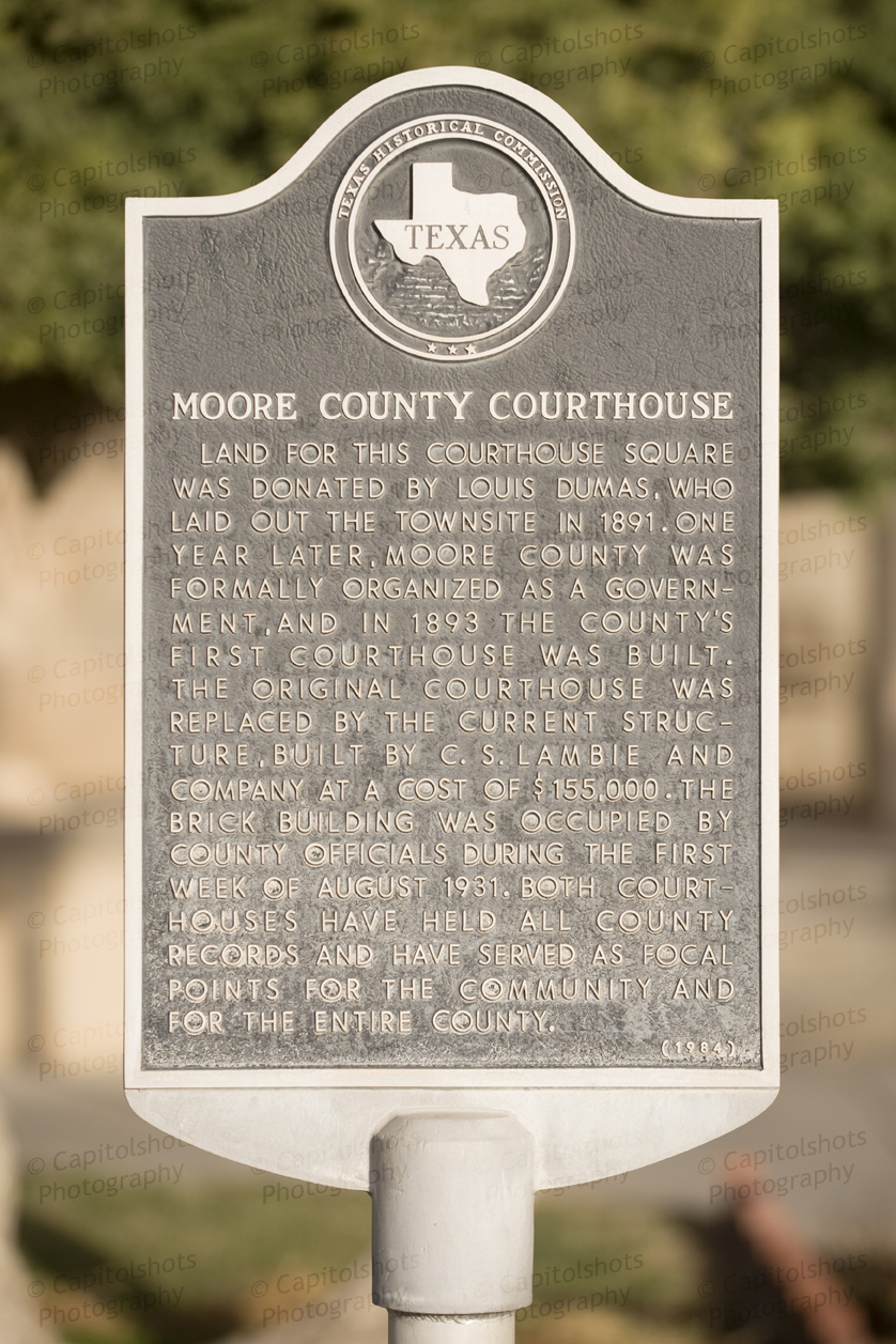 Moore County Courthouse Historical Marker