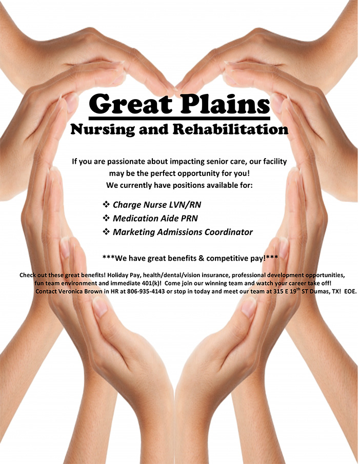 Great Plains Nursing Job Posting