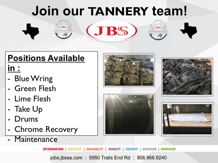 jbs tannery job fair