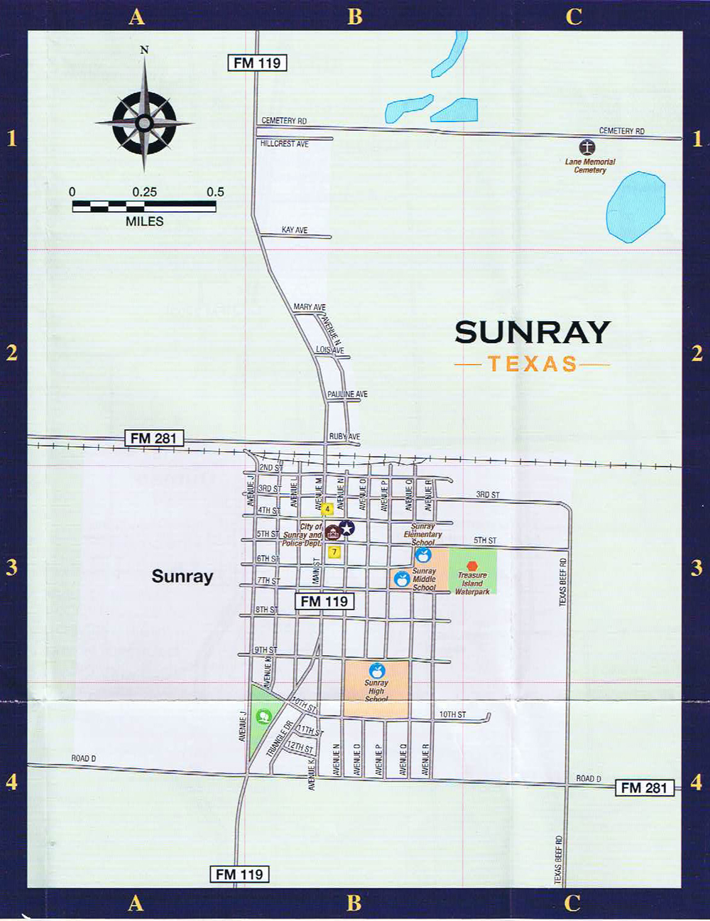 sunray street map