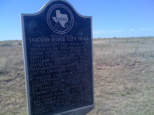 tascosa dodge city trail marker